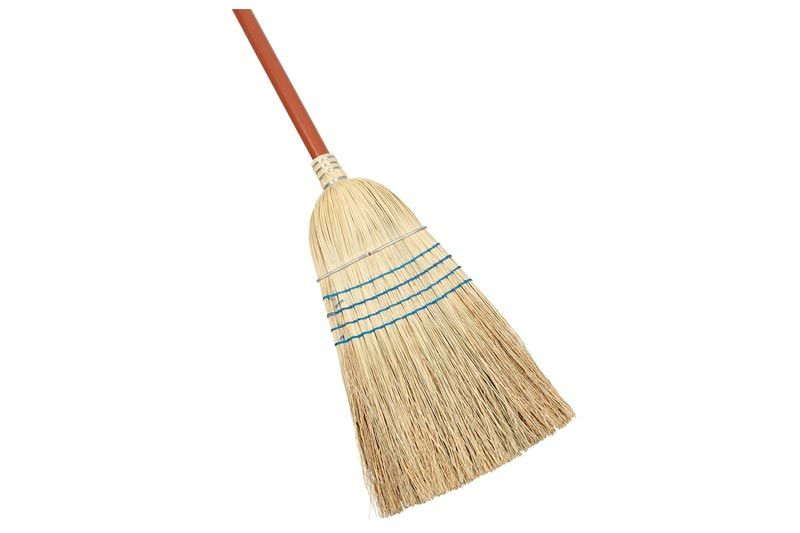 Heavy-Duty Warehouse Corn Broom, Blue