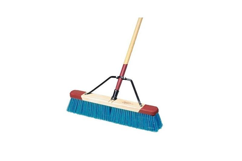 "Harper Brush 7924A 24"" Heavy Debris Pushbroom w/Handle - Stiff"