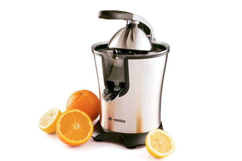 Electric Orange Juicer Squeezer Stainless Steel 160 Watts of Power Soft Grip Handle and Cone Lid for Easy Use
