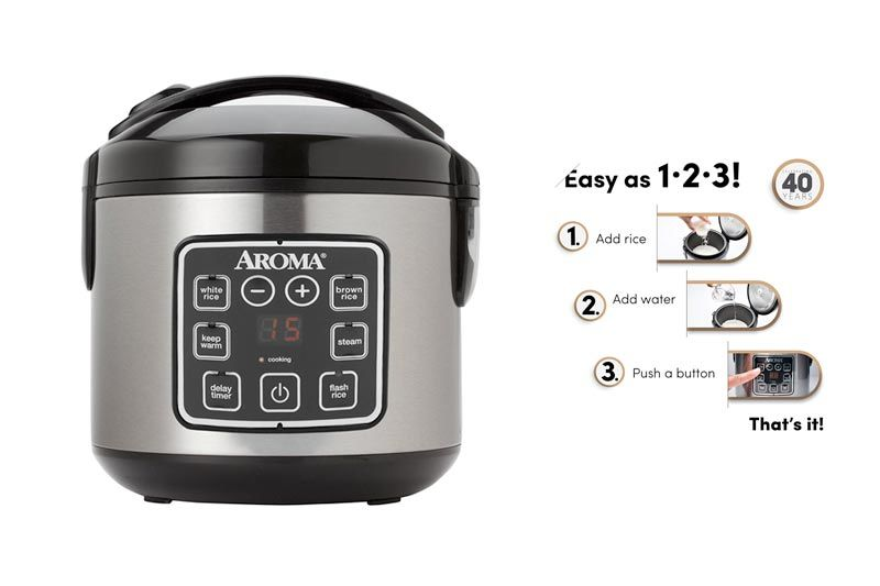 8-Cup (Cooked) Digital Cool-Touch Rice Cooker and Food Steamer, Stainless Steel