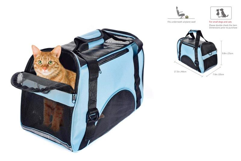 Pet Carrier for Small Cat & Dog, Airline Approved Soft-Sided Small Puppy Travel Bag with Mesh Panels and Bed | Perfact for Under 5 POUND