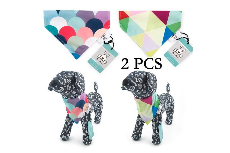 CuteBone Dog Bandana Bibs Puppy Bib Triangle Head Scarf Accessories For Dogs Cats For Small to Large Breed