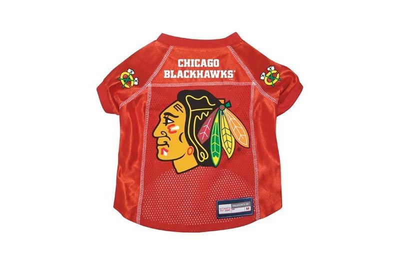 Chicago Blackhawks Premium Pet Dog Hockey Jersey w/ Name Tag SMALL