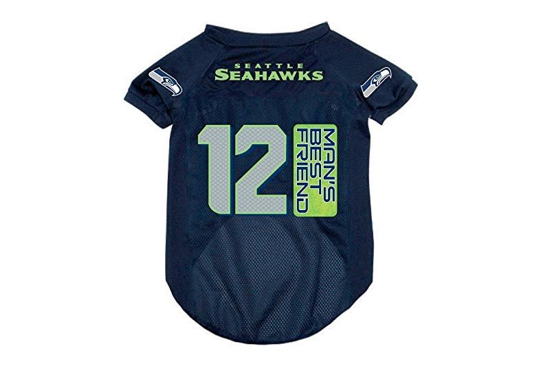 Seattle Seahawks 12th Man's Best Friend Pet Dog Football Jersey XL