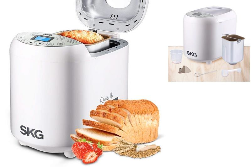 Automatic Bread Machine 2LB - Beginner Friendly Programmable Bread Maker (19 Programs, 3 Loaf Sizes, 3 Crust Colors, 15 Hours Delay Timer, 1 Hour Keep Warm) - Gluten Free Whole Wheat Bread Maker