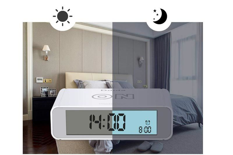 Ddida Flip alarm clock, Travel Alarm Clock, Kids Alarm Clock with Snooze and Touch Sensor Nightlight