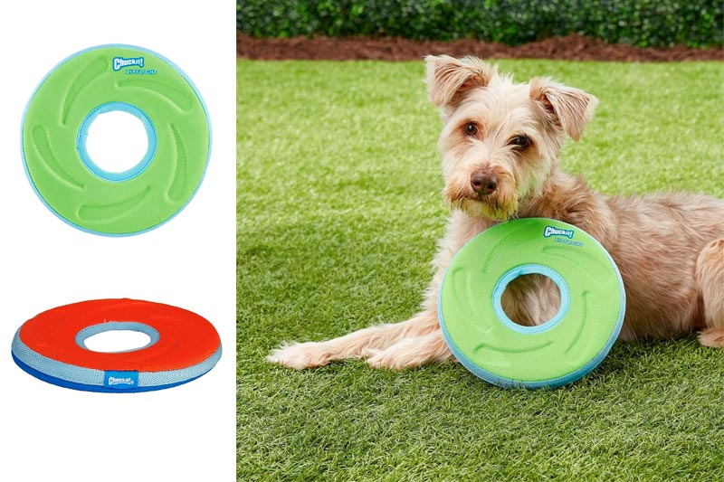 Chuckit! ZipFlight Dog Frisbee Aerodynamic Design Assorted Bright Colors