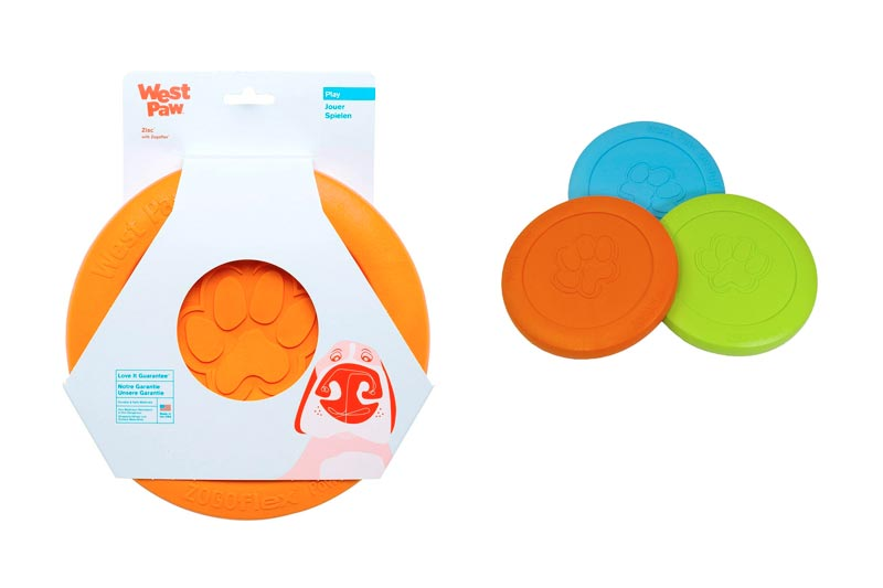 West Paw Zogoflex Zisc Tough Flying Disc Dog Play Toy