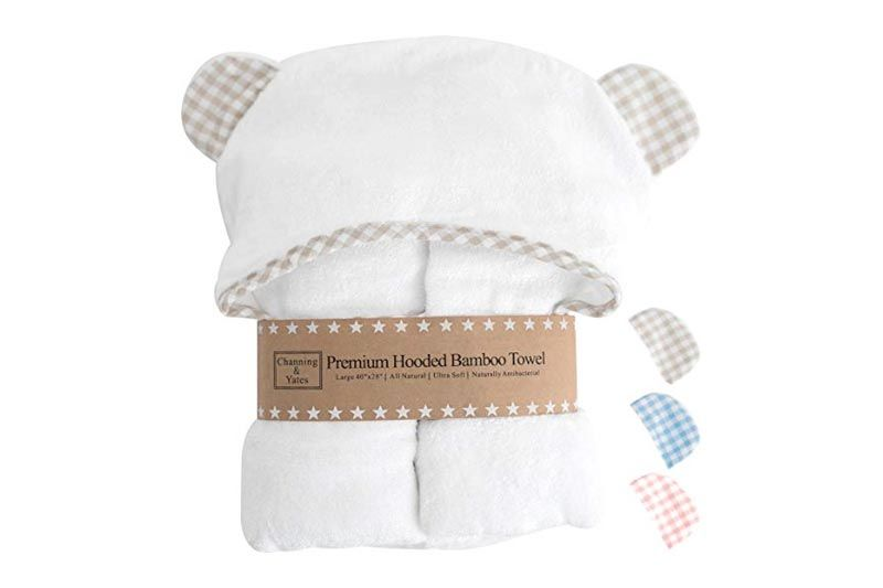 Premium Hooded Baby Towels and Washcloth Set - Organic Bamboo Baby Towel with Hood - 2x Thick & Soft - Baby Bath Towels with Hood for Boy or Girl.