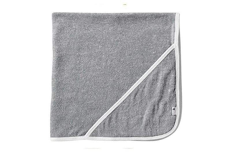 Burt's Bees Baby - Infant Single Ply Hooded Towel, 100% Organic Cotton (Heather Grey)