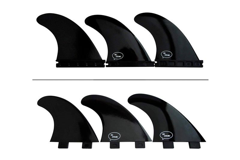 Fiberglass Reinforced Polymer Surfboard Fins - Thruster (3 Fins) FCS or Futures Sizes, Choose Color