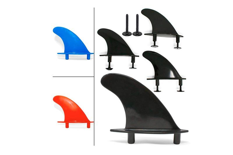 SBBC - Soft Top Surfboard Fins - || South Bay Foamy Fins || - Universal Fitting Soft Top Surf Fins - Complete Thruster Fin Set Package [Multiple Color Options]