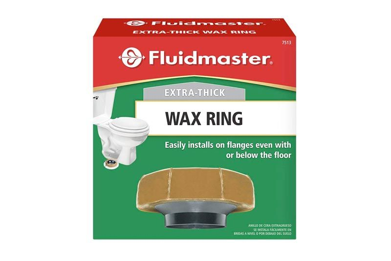 Fluidmaster 7513 Extra Thick Wax Toilet Bowl Gasket with Flange, for 3-Inch and 4-Inch Waste Lines