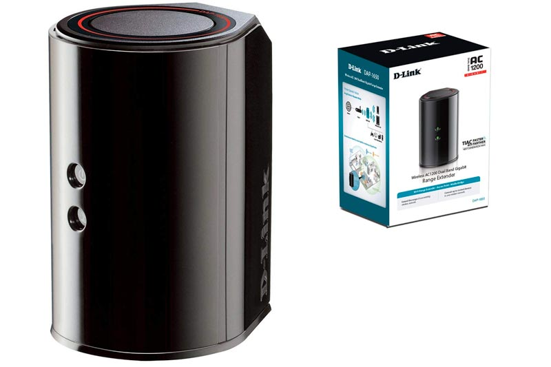 D-Link Wireless AC1200 Dual Band Wi-Fi Gigabit Range Extender & Access Point (DAP-1650)