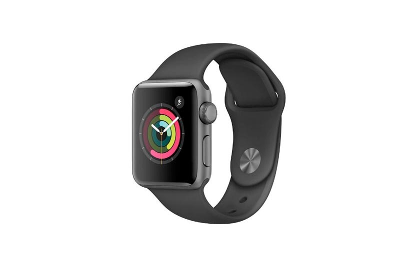 Apple Watch Series 2 38mm Space Gray Aluminum Case with Black Sport Band