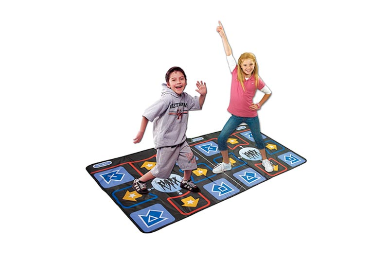 WOLSEN Non-slip & Non-toxic Durable Dual Playing TV Dance Mat with high-elastic EVA foaming technics & 218 SONGS Showdown Plug N' Play Mat for TV