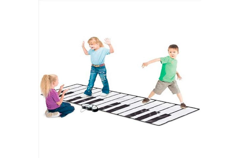 "Rhode Island Novelty Giant Electronic Floor Mat Keyboard, Black/White, 100"" x 29"""
