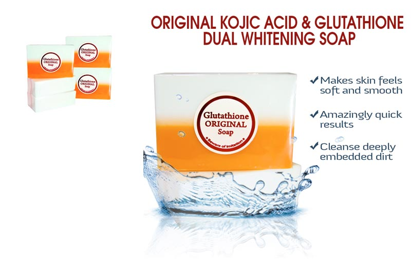 Professional Whitening Kojic Acid & Glutathione Dual Whitening/Bleaching Soap Appx.