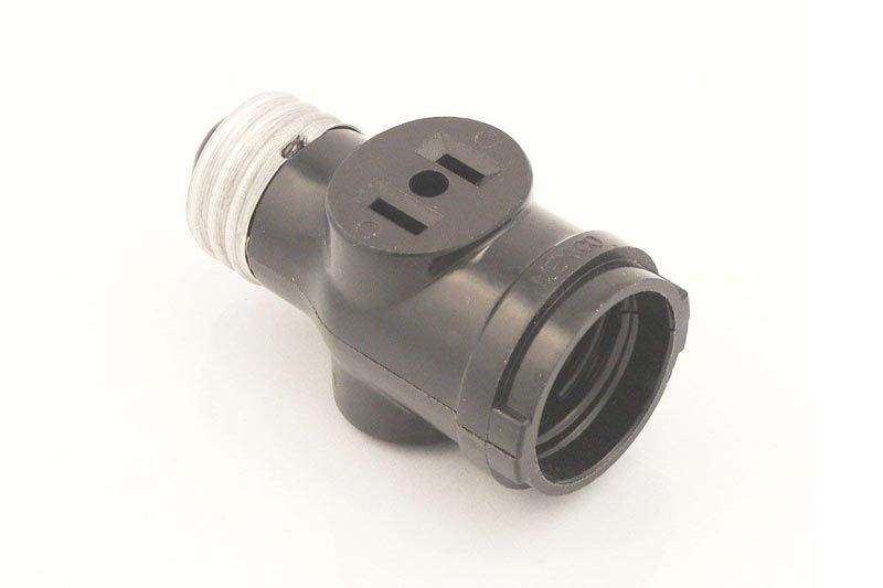 JACKYLED GU24 to E26 E27 Adapter 2-pack Heat Resistant Up to 200℃ Fire Resistant Converts GU24 Pin Base Fixture to E26 E27 Standard Screw-in Socket