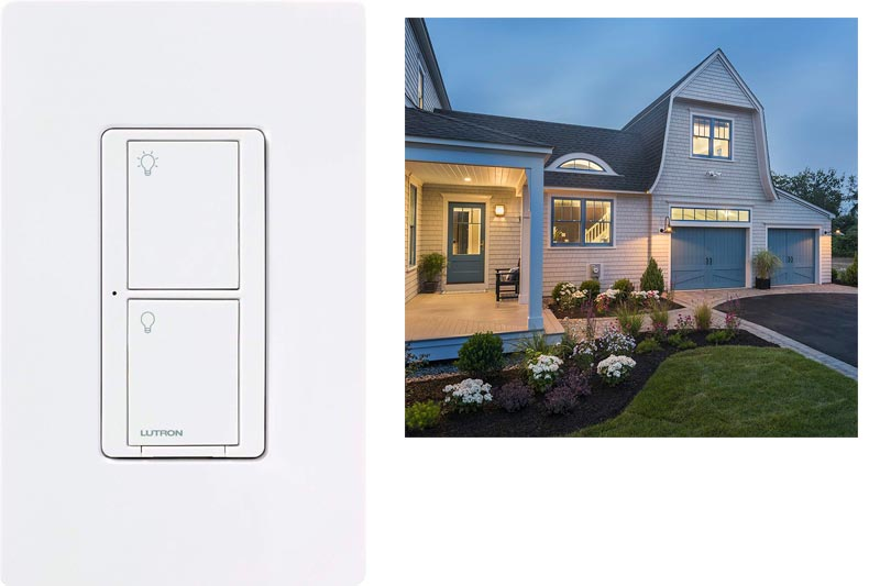 Lutron Caseta Wireless Smart Lighting Switch for All Bulb Types and Fans, PD-6ANS-WH, White, Works with Alexa, Apple HomeKit, and the Google Assistant