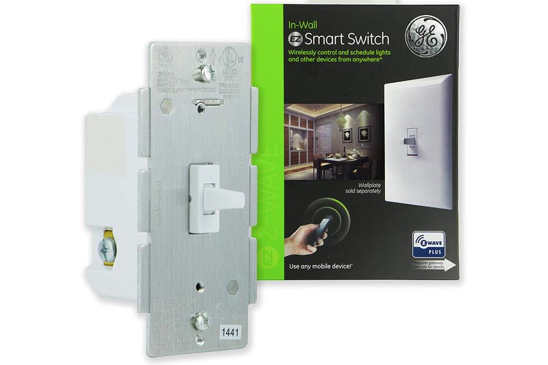 GE Z-Wave Plus Smart Lighting Control Light Switch, Toggle Style, On/Off, In-Wall, White, Repeater and Range Extender, Zwave Hub Required- Works with SmartThings Wink and Alexa