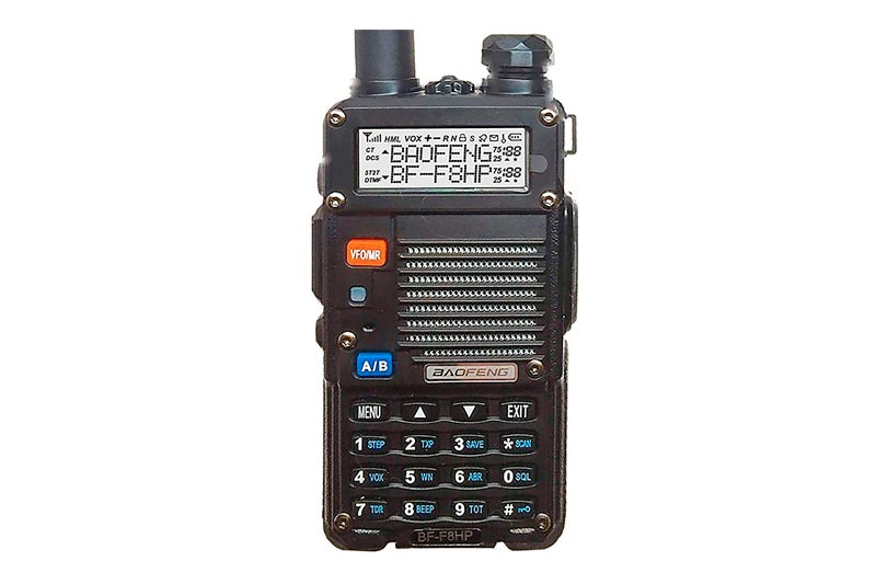 BaoFeng BF-F8HP (UV-5R 3rd Gen) 8-Watt Dual Band Two-Way Radio (136-174Mhz VHF & 400-520Mhz UHF) Includes Full Kit