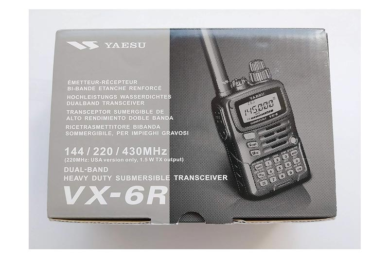 Tri-Band Yaesu VX-6R Submersible Amateur Ham Radio Transceiver (144/222/440)