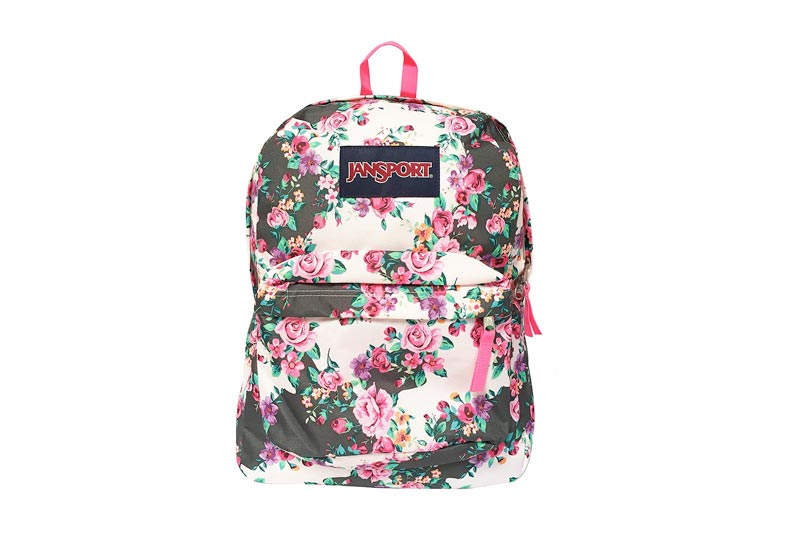 Classic Jansport Superbreak Backpack (Mltgry Floral (T5010A1))