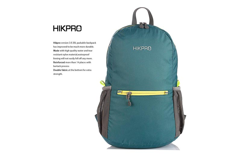 Hikpro 20L - The Most Durable Lightweight Packable Backpack, Water Resistant Travel Hiking Daypack For Men & Women