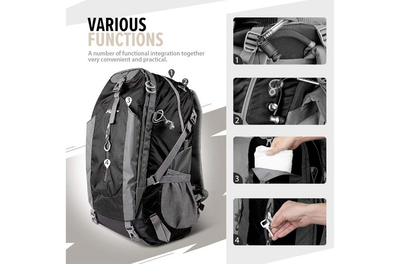 OutdoorMaster Hiking Backpack 50L - Hiking & Travel Backpack w/Waterproof Rain Cover & Laptop Compartment Hiking, Traveling & Camping