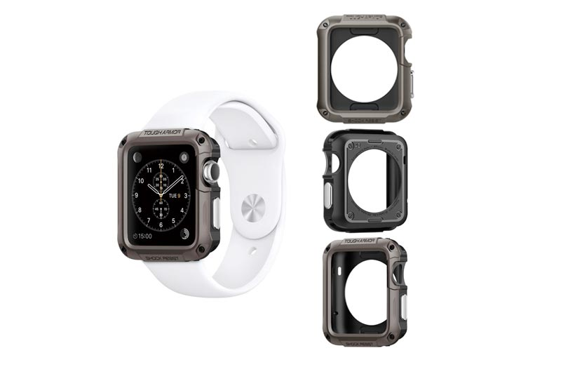 Spigen Tough Armor Apple Watch Series 1 Case with Extreme Heavy Duty Protection and Built In Screen Protector for Apple Watch 42mm Series 1 (2015) - Gunmetal