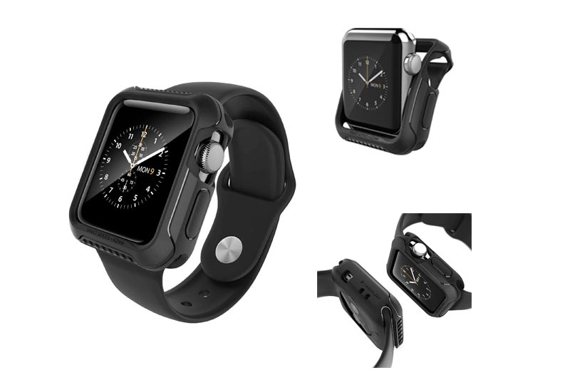 Apple Watch Series 2 Case 42mm, Caseology [Vault Series] Rugged Protective Slim Shock Resistant TPU Bumper Apple Watch Series 2 42mm (2016) Only - Matte Black