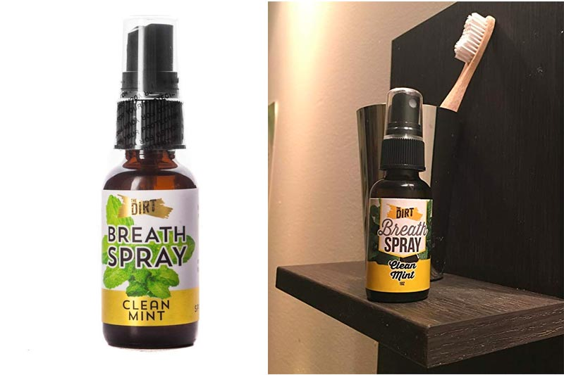 The Dirt All Natural Clean Mint Breath Spray - Alcohol Free - 200 sprays
