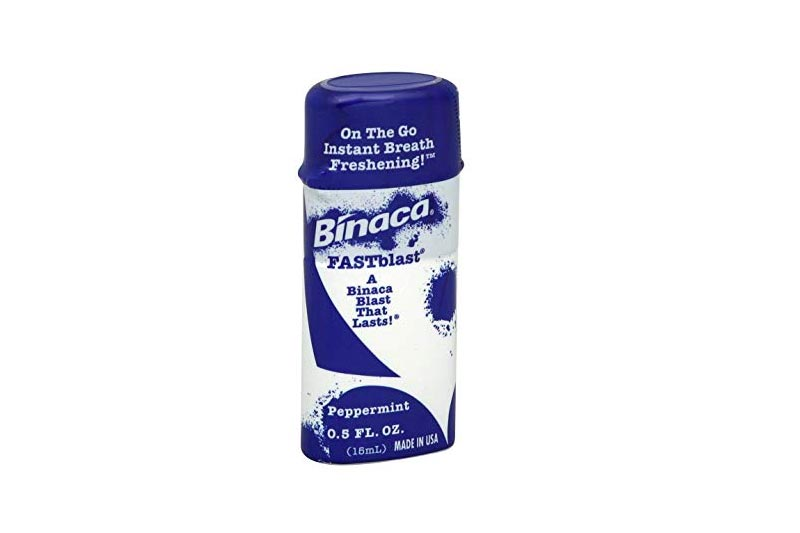 Binaca Fast Blast Breath Spray PepperMint 0.50 oz (Pack of 12)