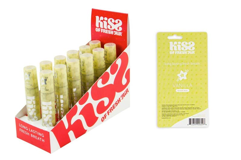Kiss of Fresh Air 12 ct. Box of Vanilla Breath Spray