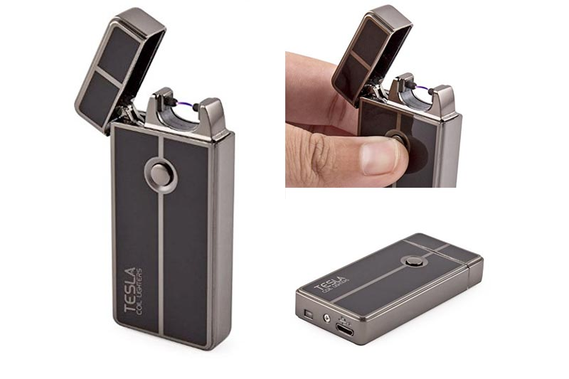 Tesla Coil Lighters™ USB Rechargeable Windproof Arc Lighter (1. Gun Metal)