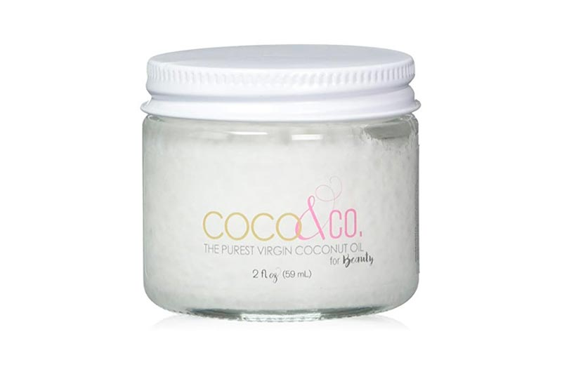 Coconut Oil for Hair & Skin By COCO&CO. Beauty Grade 100% RAW (2oz) Mini Jar