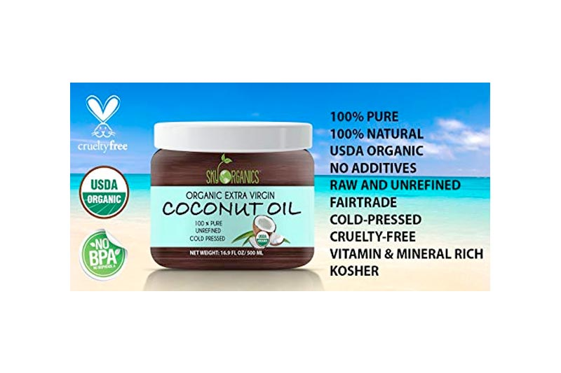 """Organic Extra Virgin Coconut Oil by Sky Organics 16.9 oz- USDA Organic Coconut Oil, Cold-Pressed, Kosher, Cruelty-Free, Color Corrector, Unrefined- Skin Moisturizer, Hair Treatment & Baking <p class=""""amazon-buynow-wrapper""""> <a href=""""https://www.amazon.com/dp/""""B01E6FWBWO""""?tag=quickfindon00-20"""" rel=""""nofollow"""" target=""""_blank""""><img alt=""""Buy now from Amazon.com"""" src=""""https://bitcoinproductsreview.com/wp-content/plugins/opicts-amazon/imgs/buy-now-amazon.png"""" data-pin-nopin=""""true""""></a></p>"""