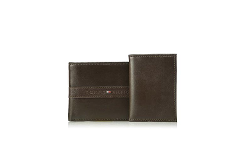 Men's Rfid Blocking 100% Leather Passcase Wallet