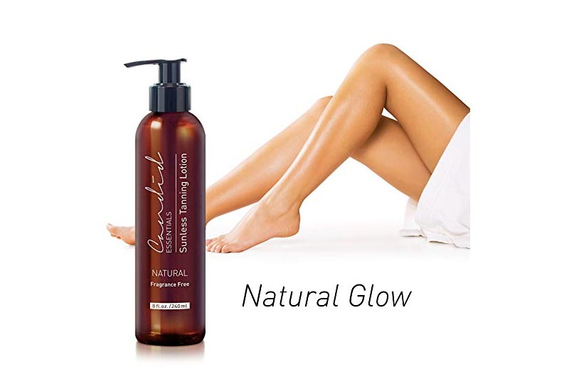 Self Tanner, Natural Sunless Tanning Lotion, Gives You a Beautiful Bronze Golden Tan, Infused w Vitamin E & Shea Butter, Perfect for All Skin Types, Light, Medium, Sensitive, Non-Toxic & Dye Free