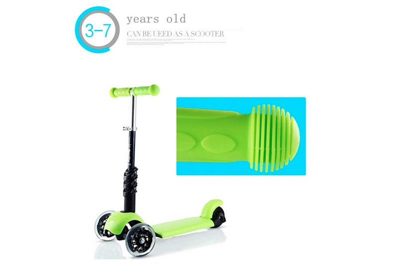 FunnyPro 3in1 Ride on Kick Scooter Balance Bike with T Bar for Kids
