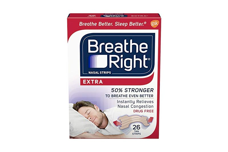 Breathe Right Nasal Strips to Stop Snoring, Drug-Free, Extra Tan, 26 count