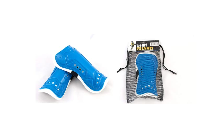 Qornerstone Children's Protective Shin Guards - Durable, Lightweight, and Breathable Padding - Great for Boys and Girls - Adjustable Size - Assorted Colors - Ages 4 and Up