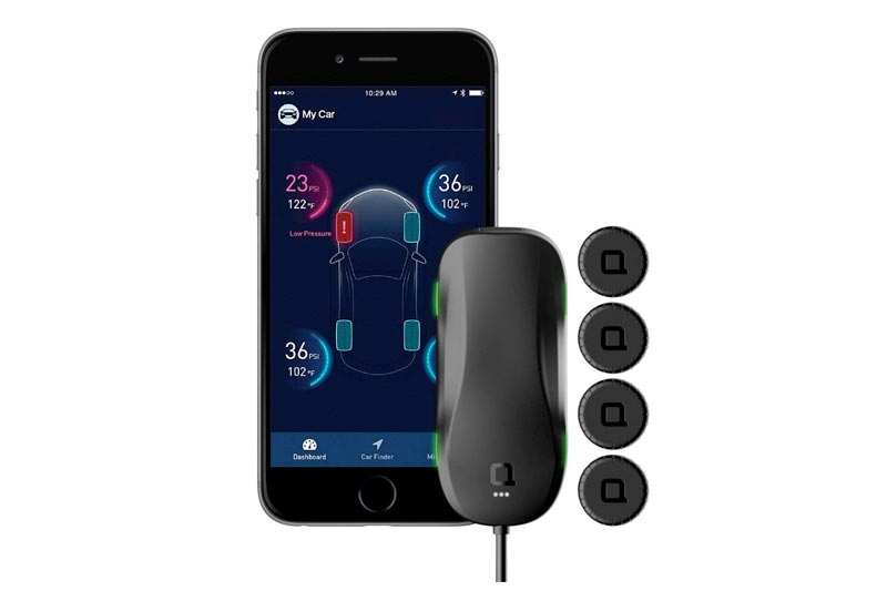 nonda ZUS Smart Tire Safety Monitor, TPMS with APP, Slow Leak Detection AccurateTemp Technology, Real Time Pressure & Temperature Alerts, 4 External Cap Sensors