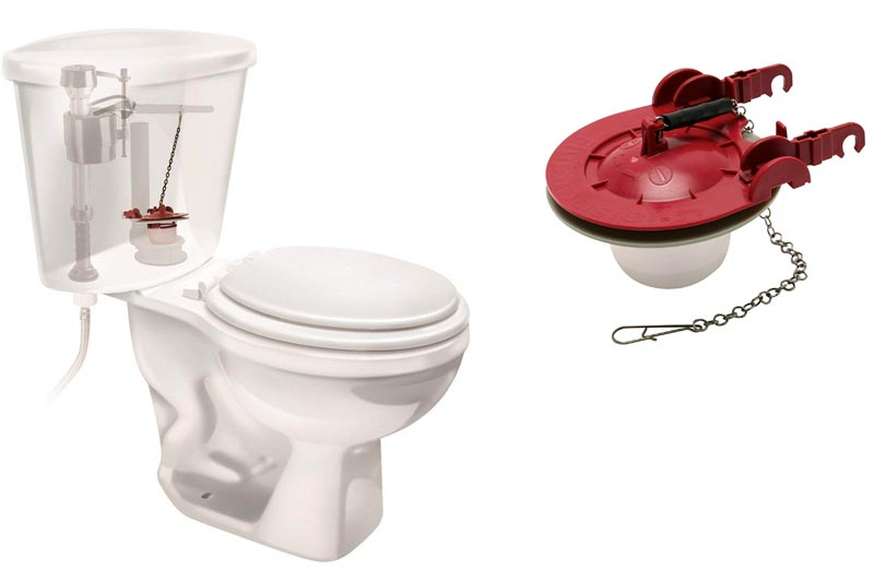Fluidmaster 5403 3-Inch Universal Water Saving Long Life Toilet Flapper, Adjustable Solid Frame Design