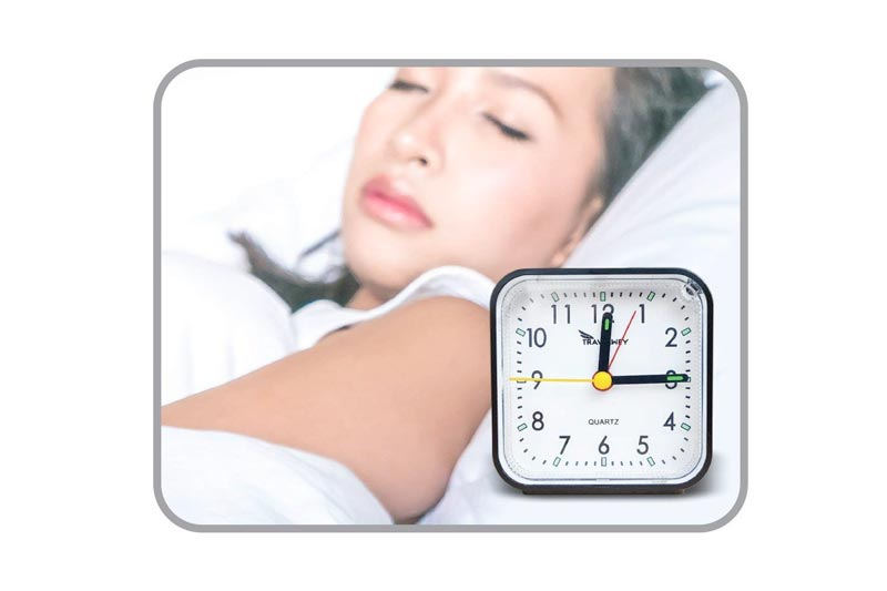 Travel Alarm Clock - Battery Operated, No Bells, No Whistles, Snooze, Alarm, Light, Small and Simple, Perfect for Desk, Shelf, Bedside or Travel, Black