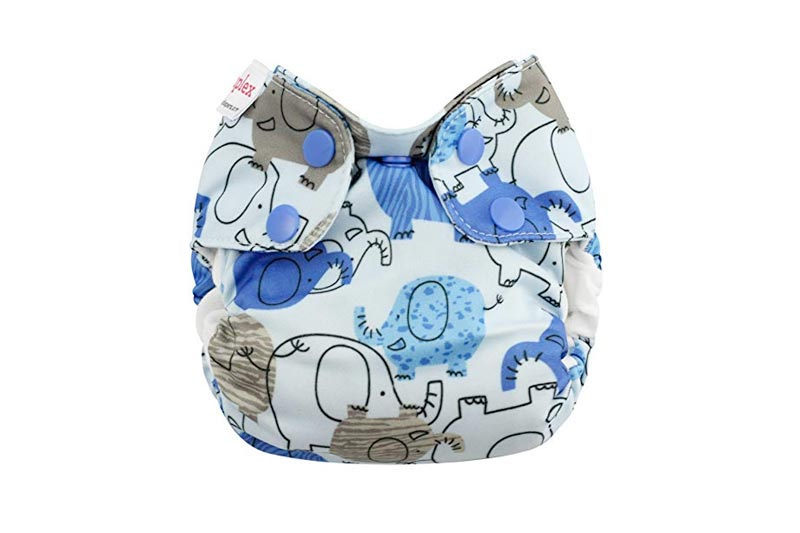 Blueberry Newborn Simplex All In One Cloth Diapers, Made in USA (Blue Elephants)