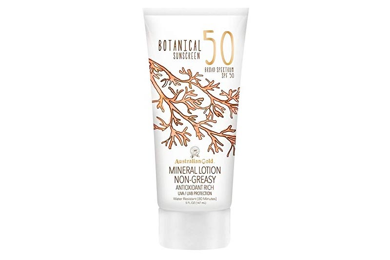 Australian Gold Botanical Sunscreen Mineral Lotion, Non-Greasy, SPF 50, 5 Ounce