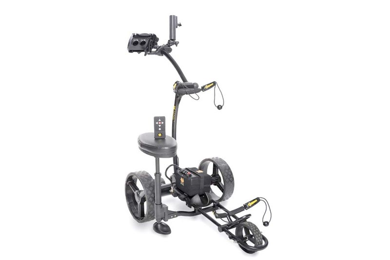 Bat-Caddy X4R Sport Remote Control Cart w/ Free Accessory Kit, 20 AH Lithium, Black