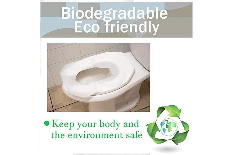 Disposable Paper Toilet Seat Covers - Case Of 1000 Premium Quality Flushable Half Fold Toilet Seat Protectors in dispensers - Perfect For Public Restrooms by Upper Midland Products